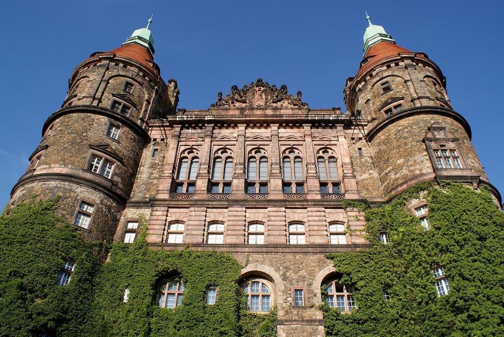 zamek książ widok