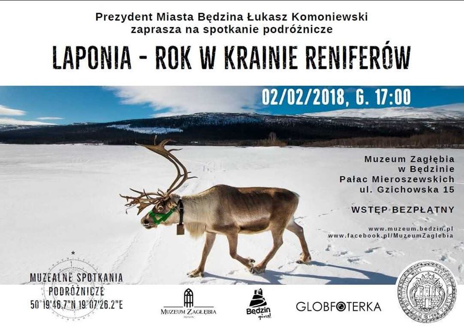 """Muzealne Spotkania Podróżnicze """"Laponia - rok w krainie reniferów"""""""