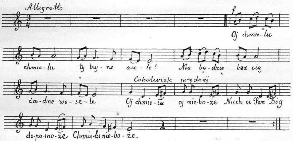 Najstarsza Polska piosenka - Oj chmielu, chmielu