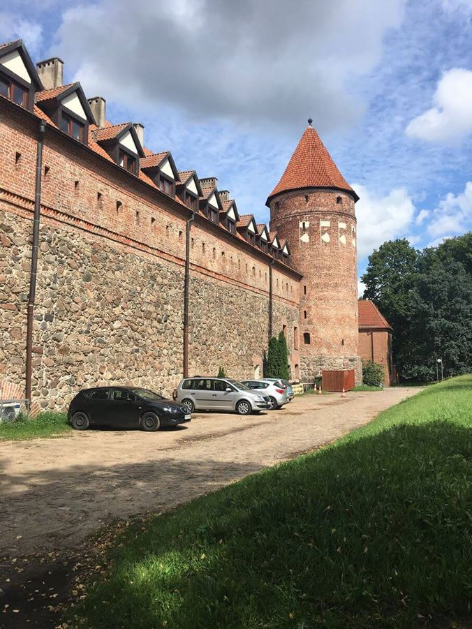 Zamek Bytów - mury