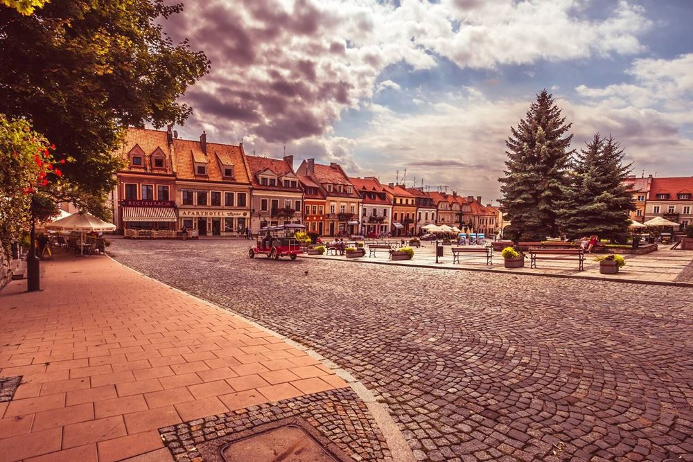 Widok na starówkę w Sandomierzu