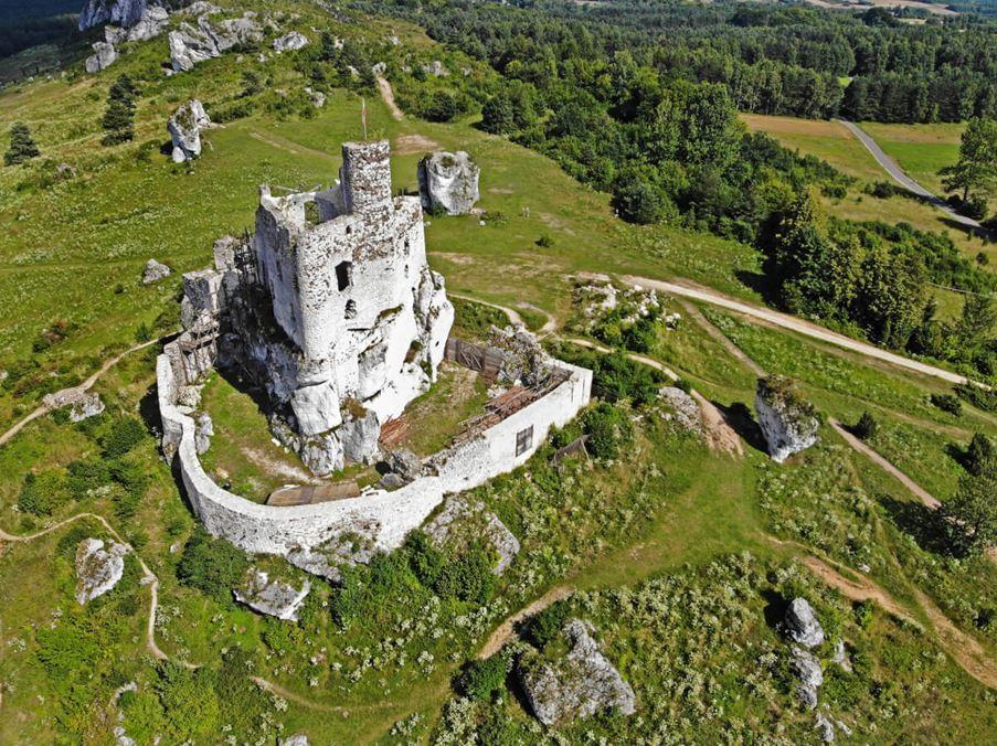 zamek bobolice z góry