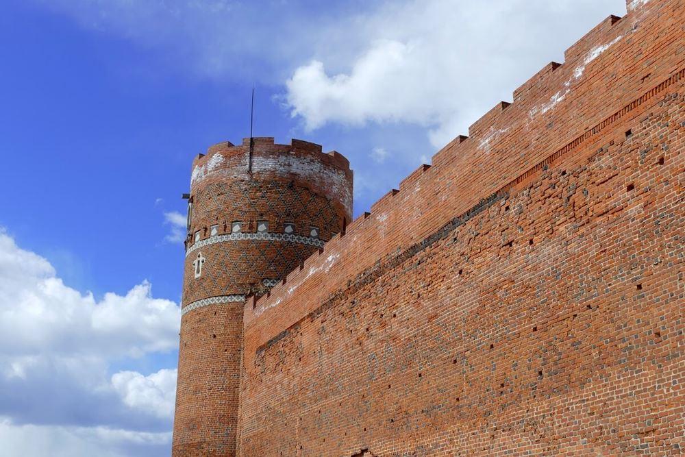 Fragment murów zamku w Ciechanowie