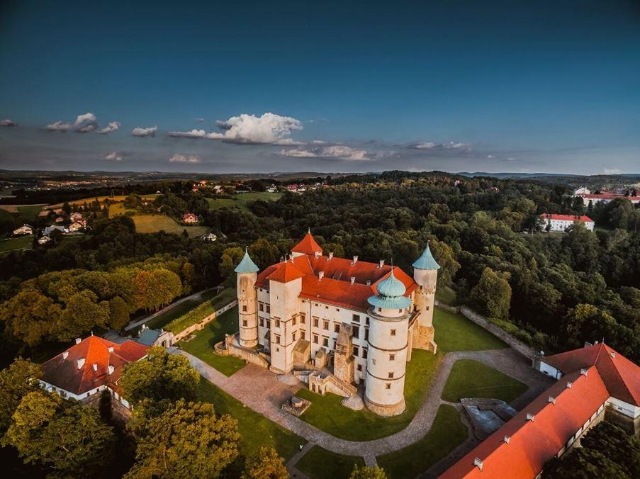 Zamek w Wiśniczu - widok z góry