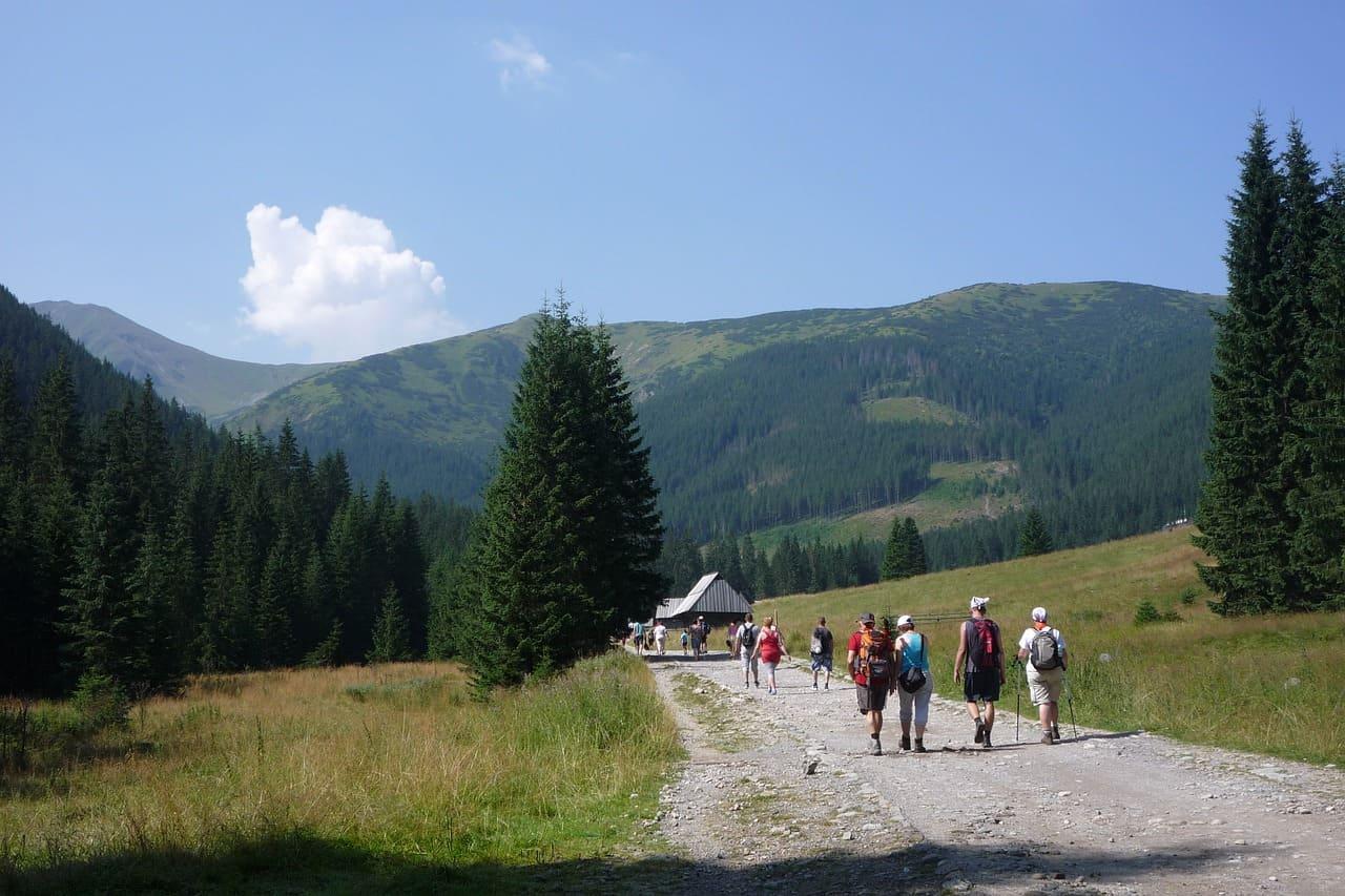 Dolina Chochołowska - szlak turyści